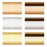 Set of luxury metallic backgrounds Royalty Free Stock Image