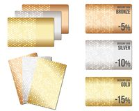 Set of luxury metallic backgrounds Stock Photos