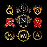 Set of luxury monograms Royalty Free Stock Image