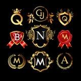 Set of luxury monograms Royalty Free Stock Image