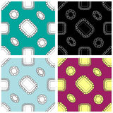 Set of luxury patterns Stock Photo
