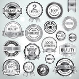 Set of luxury silver badges and stickers Royalty Free Stock Images