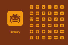 Set of luxury simple icons Stock Images