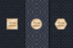 Set of luxury vintage backgrounds Royalty Free Stock Photos