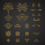 Set of luxury, vintage curls, flourishes and swirl Royalty Free Stock Photo