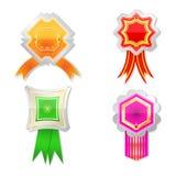 Set Luxus-Kennsätze mit Farbbändern. Lizenzfreie Stockfotografie