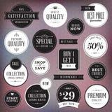 Set Luxuskennsätze und -abzeichen Lizenzfreie Stockbilder