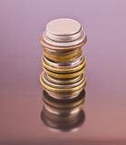 Set Münzen Stockfoto