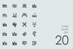 Set mądrze miasto ikony Obrazy Royalty Free
