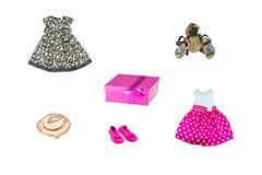 Set mała dziewczynka odziewa dla dnia dziecko Kolorowy fashio obrazy stock