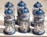 Set Małe wzorcowe latarnie morskie Obrazy Royalty Free