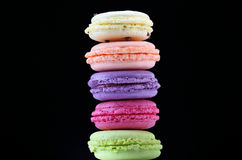 Set of macaron. Different colors and flavors of macaron Royalty Free Stock Photo