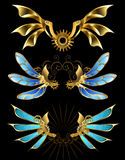 Set machinalni skrzydła Obrazy Stock
