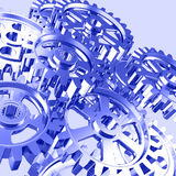 Set of machine gears royalty free stock photography