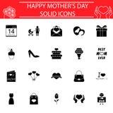 Set macierzyste ` s dnia ikony Zdjęcia Royalty Free