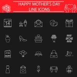 Set macierzyste ` s dnia ikony Obraz Royalty Free