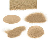 pile desert sand isolated on white Royalty Free Stock Photo