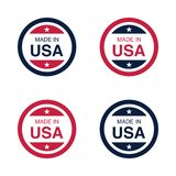 Made in USA United States of America sign, label and emblem Vector Illustration vector illustration
