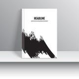 Set Magazine Cover with black strokes Stock Image