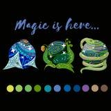 magic balls royalty free illustration