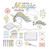2018.03.31_unicorn reading vector illustration