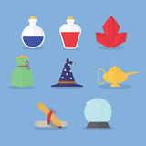 Set of magic icons Royalty Free Stock Photography