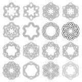 Set of magic knotting circles Stock Image