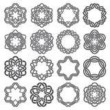 Set of magic knotting circles Stock Photography