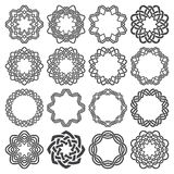 Set of magic knotting circles Stock Photo