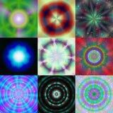 Set of magic ring generated textures Stock Photos