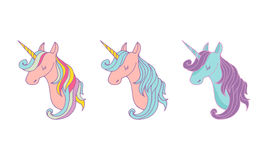 Set of magic unicons - cute hand drawn icons Stock Image