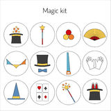Set of magician Vector illustration Stock Photography