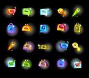 Set magiczne ikony Zdjęcia Stock