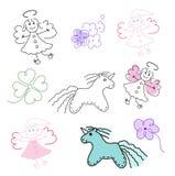 Set magiczne zabawki Obrazy Stock