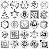 Set magii i alchemii Sigils wektory Zdjęcie Royalty Free