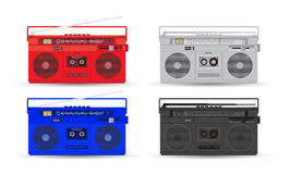 Set of magnetic cassette player Royalty Free Stock Photography