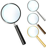 Set Of Magnifiers. Vector Royalty Free Stock Images