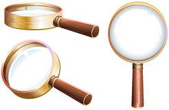 Set magnifying glass Royalty Free Stock Image