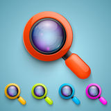 Set of magnifying glass. Vector Royalty Free Stock Images