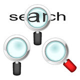 Set of magnifying glasses Royalty Free Stock Image