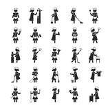 Set of maid  , Human pictogram Icons Stock Photos