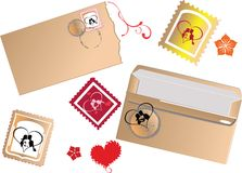 Set of mail elements Stock Image
