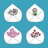 Set of mail envelopes Stock Photos