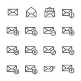 Set of mail icons. Gray mail icon line  for your work Stock Photography