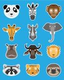 Set majchery z malującymi zwierzętami Fotografia Stock