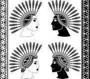 Set majscy kobieta profile ilustracji