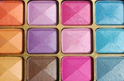 Set of make up. Close up, shining eyeshadow Royalty Free Stock Photo