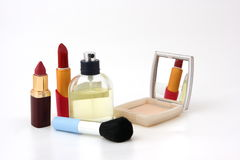 Set for make-up. On white background Royalty Free Stock Photo