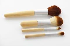 A set of make-up brush. Make-up brush on background royalty free stock photography
