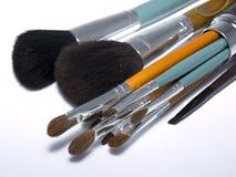 Set of make up brushes Royalty Free Stock Image